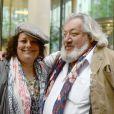 """Exclusif - Isabelle de Hertogh et Jean-Claude Dreyfus - Tournage du film """"Vive la crise"""" à Paris. Le 30 mai 2016 © Daniel Angeli / Bestimage"""