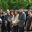 """Exclusif - Jean-Marie Bigard, Emmanuelle Boidron, Rufus - Tournage du film """"Vive la crise"""" à Paris. Le 9 juin 2016 © Daniel Angeli / Bestimage"""