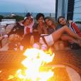 Ruby Rose et sa nouvelle chérie Harley Gusman célèbrent la fête de l'Indépendance Américaine chez Taylor Swift avec Gigi Hadid et Cara Delevingne. Photo publiée sur Instagram, le 5 juillet 2016