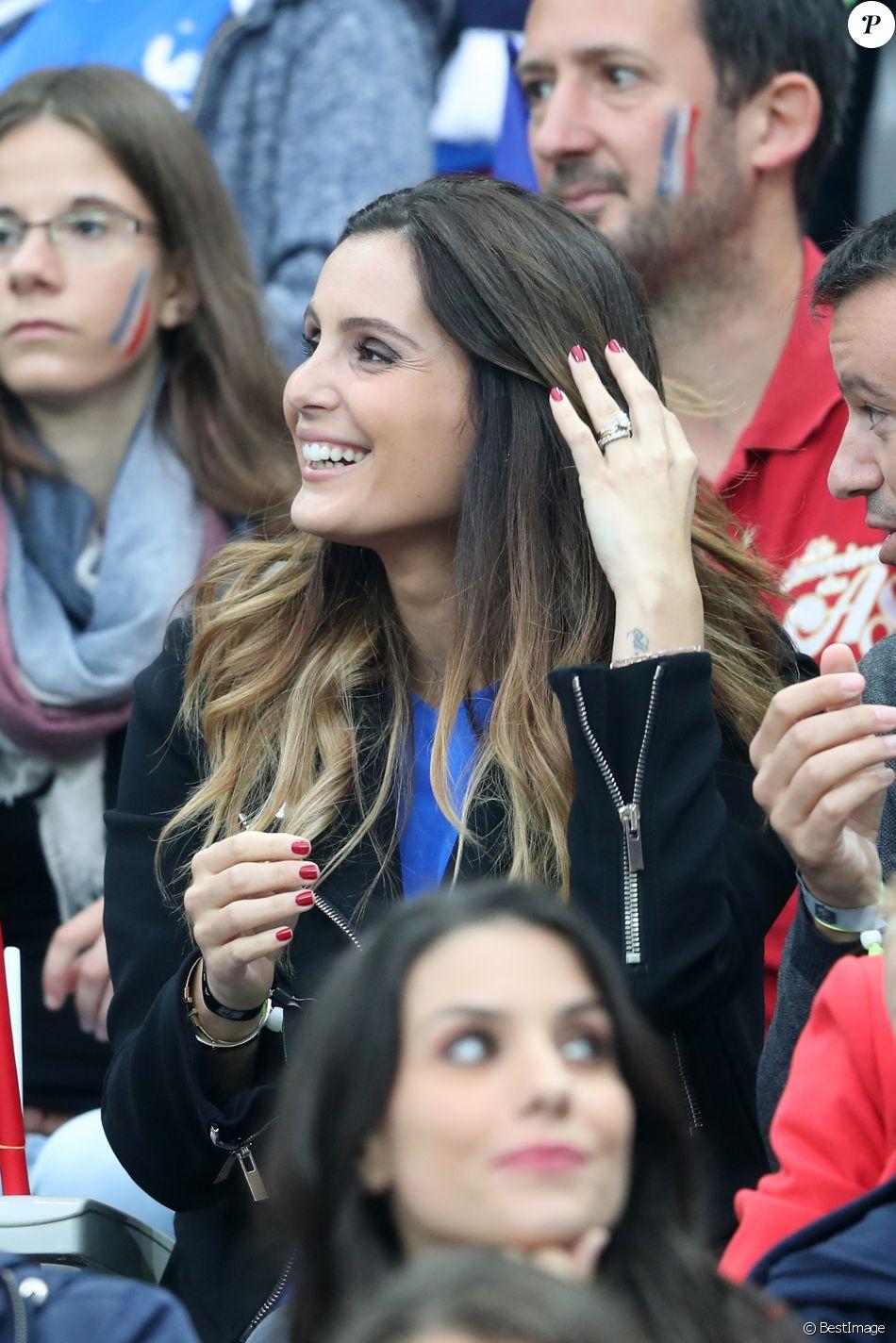 Marine Lloris (Femme de Hugo Loris) lors du match du quart ...