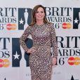 """Geri Halliwell à la soirée des """"BRIT Awards"""" à l'O2 de Londres le 24 février 2016."""