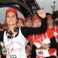 """Laetitia Milot - Départ de la 19e édition """"La Parisienne"""" à Paris le 13 septembre 2015."""