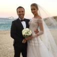 Matheus Mazzafera et son amie, la mariée Ana Beatriz Barros - Mariage d'Ana Beatriz Barros et Karim El Chiaty à Mykonos. Juillet 2016.