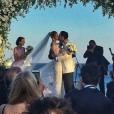 Ana Beatriz Barros et Karim El Chiaty se marient à Mykonos. Juillet 2016.