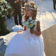 Anja Mazur, la fille d'Alessandra Ambrosio et Jaime Mazur - Mariage d'Ana Beatriz Barros et Karim El Chiaty à Mykonos. Juillet 2016.