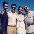 Le mannequin Fernanda Motta, Karim El Chiaty, Ana Beatriz Barros et Roger Rodrigues - Mariage d'Ana Beatriz Barros et Karim El Chiaty à Mykonos. Juillet 2016.