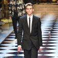 Presley Gerber - Défilé Dolce & Gabbana collection prêt-à-porter printemps-été 2017 à Milan, le 18 juin 2016.