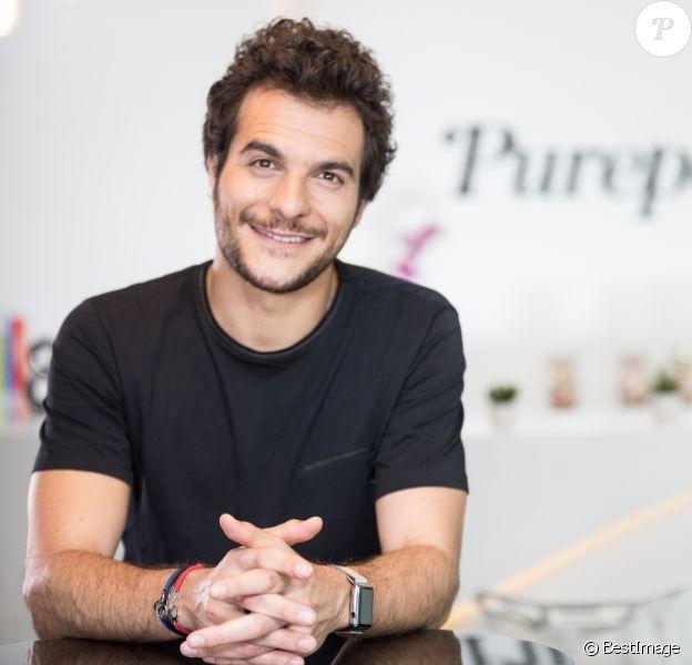 """Exclusif - Rendez-vous avec Amir pour """"Purepeople"""" dans les locaux de Webedia à Levallois-Perret le 27 juin 2016."""