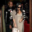 Kim Kardashian et son mari Kanye West quittent le studio de Karl Lagerfeld, puis ils sont allés dîner au restaurant Ferdi et ensuite ils sont allés prendre un verre à l'hôtel Costes avant de retourner chez eux à Paris, France, le 13 juin 2016.