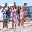 Cristiano Ronaldo profite avec ses proches et notamment son fils Cristiano Jr. de ses vacances dans les Baléares, ici à Formentera le 19 juillet 2016.