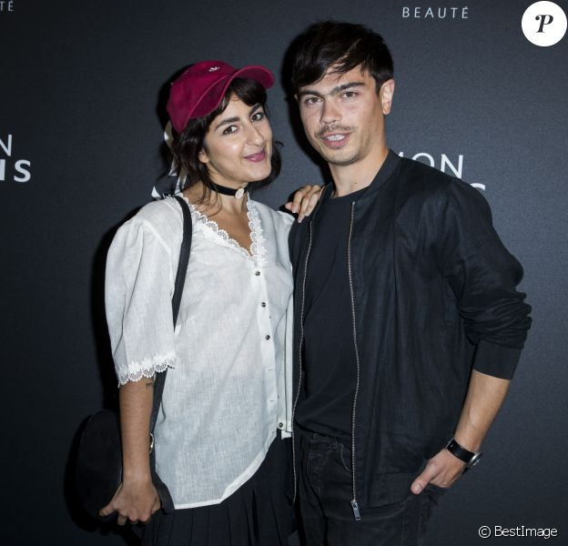 "Nili Hadida et Benjamin Cotto du groupe Lilly Wood and the Prick - Lancement du nouveau parfum féminin Yves Saint Laurent ""Mon Paris "" au restaurant ""Le Georges"" à Paris le 14 juin 2016. © Olivier Borde / Bestimage"