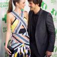 "Miranda Kerr, Orlando Bloom - People a la 10eme ceremonie annuelle pre Oscar ""Global Green"" a Hollywood. Le 20 fevrier 2013."