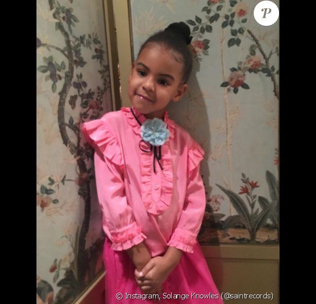 Photo de Blue Ivy, toute de Gucci vêtue, publiée le 20 juillet 2016.
