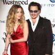 "Johnny Depp et sa femme Amber Heard - 9e Gala Annuel ""The Art Of Elysium"" à Culver City le 9 janvier 2016."