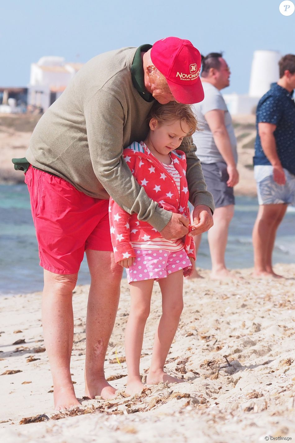 "Exclusif - Andreas Nikolaus ""Niki"" Lauda en vacances en famille à Ibiza, le 13 juin 2015."