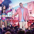 """John Cena et Victoria Justice- Cérémonie des Teen Choice Awards 2016 dans la salle """"The Forum"""" à Inglewood, Los Angeles, le 31 juillet 2016."""