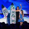 """Jennifer Garner et Kylie Rogers - Cérémonie des Teen Choice Awards 2016 dans la salle """"The Forum"""" à Inglewood, Los Angeles, le 31 juillet 2016."""