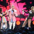 """John Cena Victoria Justice et Laverne Cox- Cérémonie des Teen Choice Awards 2016 dans la salle """"The Forum"""" à Inglewood, Los Angeles, le 31 juillet 2016."""