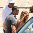 Beyoncé Knowles, Jay Z et leur fille Blue-Ivy arrivent à Beaulieu-sur-mer le 31 juillet 2016