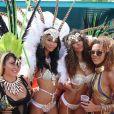 Chanel Iman et ses amies - Parade du festival Crop Over 2016 à Saint James. La Barbade, août 2016.