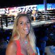 """Sophie Tapie - Soirée """"La Fight Night"""" de Saint-Tropez, France, le 4 août 2016. La Fight Night est un concept original alliant les plus hautes valeurs des sports de combats internationaux au glamour de Saint-Tropez. Certains des plus grands noms de la boxe thaï et du kick-boxing mondiaux se sont affrontés sur ce ring faisant désormais partie de la légende de la boxe sous toutes ses formes. Cette prestigieuse soirée de gala au clair de lune est devenue au cours du temps LA marque d'un succès sportif et people retentissant. Un événement incontournable dans le village le plus célèbre de la Côte d'Azur. © Rachid Bellak/Bestimage"""