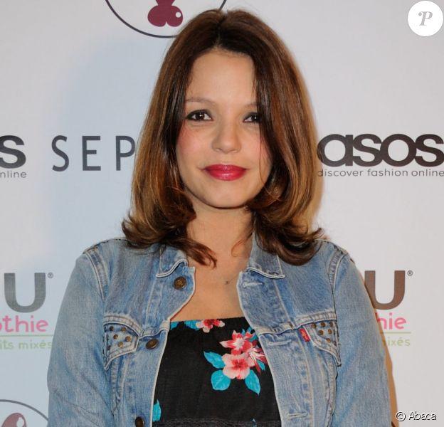 Severine Ferrer, enceinte, assiste à la soirée Fashion Ambassador Summer 2016, pour mettre en avant les penderies de l'été des ambassadeurs ASOS, au showroom Hedgren a Paris, France, le 12 mai 2016.