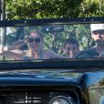 LeAnn Rimes et son mari Eddie Cibrian ainsi que son fils Jake à Calabasas, le 7 juin 2016