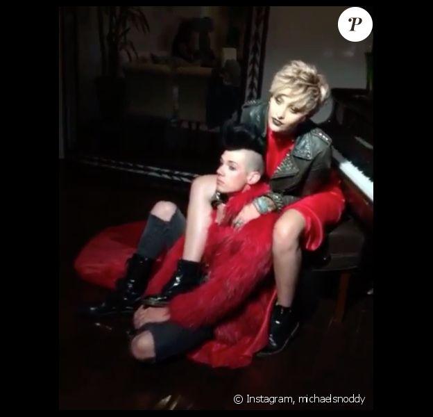 Paris Jackson et son chéri, le rockeur Michael Snoddy lors d'un shooting photo. Photo publiée sur Instagram au mois d'août 2016
