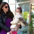 Oksana Grigorieva emmene sa fille Lucia Gibson (la fille de Mel) a son cours de danse a Sherman Oaks, le 19 janvier 2013.