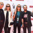 """Ringo Starr et Barbara Bach avec Joe Walsh et Pamela Bach - Anniversaire de Ringo Starr lors de l'événement """"Peaceandlove"""" au Capitol Records à Hollywood le 7 juillet 2016"""