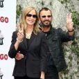 Ringo Starr et sa femme Barbara Bach lors de l'anniversairede l'ex-Beatle au Capitol Records Towe à Hollywood, le 7 juillet 2015
