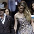 Johnny Depp et sa compagne Amber Heard - Célébrités au festival international du film de Toronto (TIFF) le 12 septembre 2015