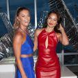 Nina Agdal et Shanina Shaikassistent à la soirée d'ouverture de l'hôtel W Dubai à The Glasshouses. New York, le 17 août 2016.