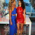 Nina Agdal et Shanina Shaik assistent à la soirée d'ouverture de l'hôtel W Dubai à The Glasshouses. New York, le 17 août 2016.
