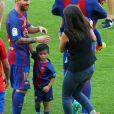 Lionel Messi et Gerard Piqué - Match FC Barcelone - Betis Seville au Camp Nou. Barcelone, le 20 août 2016.
