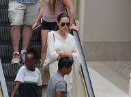 Angelina Jolie : Instant shopping avec ses deux préados Zahara et Pax