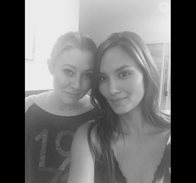 Shannen Doherty et son amie  Anne Marie Kortright sur une photo publiée le 20 juillet 2016 sur Instagram
