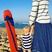 Natasha St-Pier : Maman épanouie avec Bixente, sur la plage...