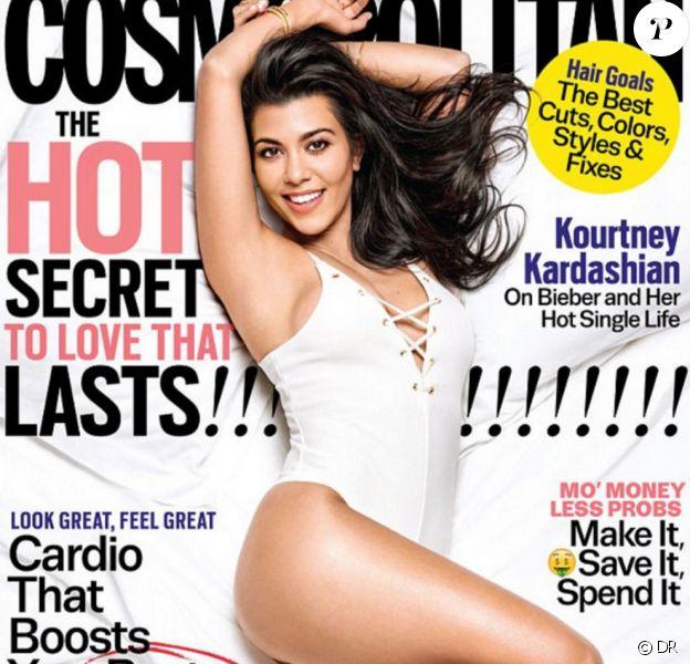 Kourtney Kardashian en couverture du nouveau numéro du magazine Cosmopolitan, en kiosque au mois de septembre 2016