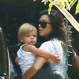 Kourtney Kardashian emmène son fils Reign à son cours de musique à Beverly Hills, le 25 août 2016