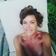 """""""Janice Dickinson prend le soleil, un mois après son traitement contre le cancer du sein. Photo publiée sur Instagram en août 2016"""""""