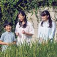 Portrait officiel du prince Hisahito du Japon, fils du prince Fumihito d'Akishino, avec ses soeurs la princesse Kako et la princesse Mako à l'occasion de son 10e anniversaire le 6 septembre 2016, photographié le 10 août 2016 dans le jardin et la rizière du domicile familial sur le domaine du palais d'Akasaka à Tokyo. © Cour impériale du Japon via BestImage