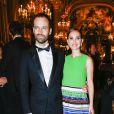 Natalie Portman (chaussures Dior, robe Dior Haute Couture) et son mari Benjamin Millepied - Gala d'ouverture de la saison du Ballet de l'Opéra national de Paris, le 24 septembre 2015.