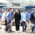 Angelina Jolie durant sa visite dans le camp de réfugiés Syriens à Azraq en Jordanie, le 9 Septembre 2016