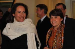 REPORTAGE PHOTOS : Ségolène Royal et Martine Aubry, les nouvelles meilleures amies ? Sourires forcés ou non ? A vous de juger !