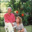 Jean-Loup Dabadie et Julie Arnold en 1988