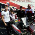 Exclusif - Jules Bianchi et son père Philippe Bianchi, le 8 mars 2014.