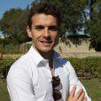 Jules Bianchi - À l'invitation de l'Hostellerie de l'abbaye de La Celle et des Coteaux varois en Provence, Alain Ducasse et Jules Bianchi, pilote de F1, ont vendangé quelques grappes de grenache à l'occasion des vendanges du vignoble conservatoire des coteaux varois au Clos de l'abbaye de la Celle - 26 septembre 2014