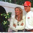 Michael Schumacher et Corinna à Maranello en juin 1997