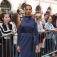 "Alesha Dixon arrive au Topshop Show Space pour assister au défilé ""Topshop Unique"" (collection prêt-à-porter printemps-été 2017). Londres, le 18 septembre 2016."